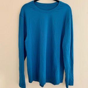 Lululemon Men's Blue Textured Long Sleeve Shirt